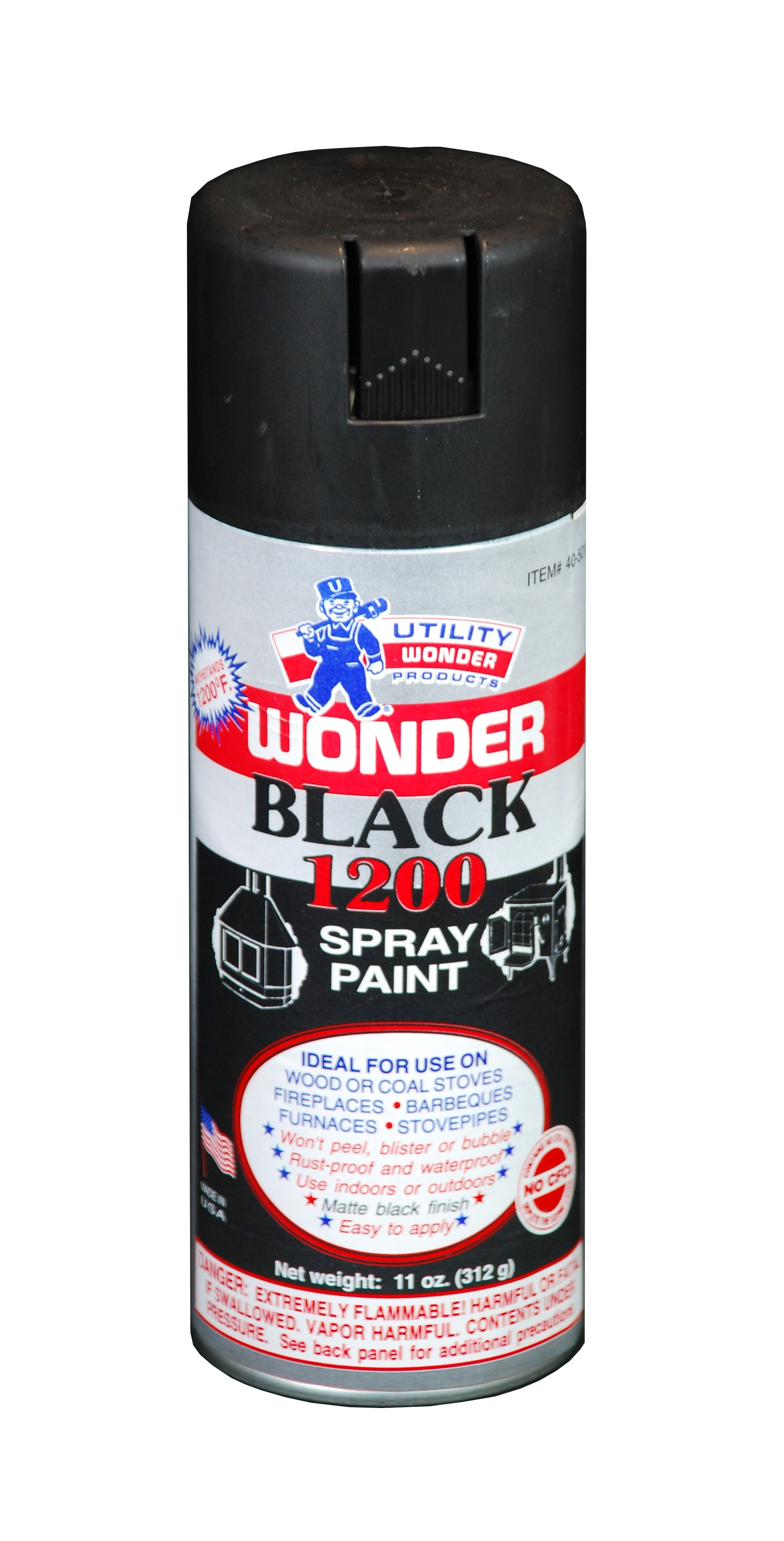 wonder black 1200 high temperature spray paint products