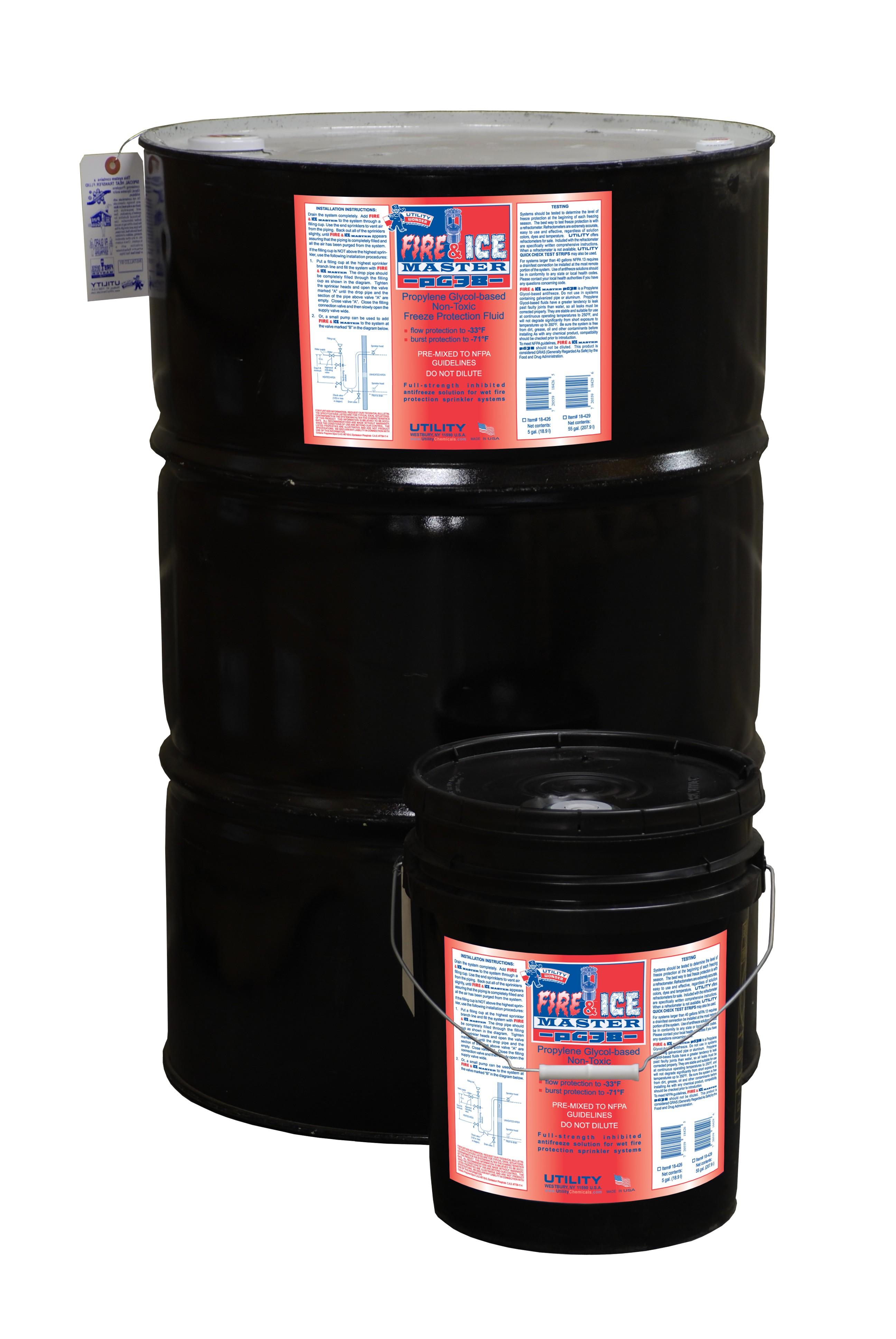 FIRE & ICE MASTER PG38 PROPYLENE GLYCOL-BASED FIRE SPRINKLER ANTI-FREEZE